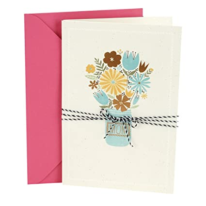 Amazon Hallmark Birthday Greeting Card To Mother Bouquet In