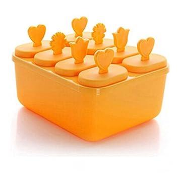 VelvxKl - Molde para hacer paletas de hielo, reutilizable, para cocina, helado,