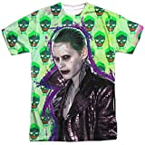 Suicide Squad- Joker Skulls All Around T-Shirt Size XL