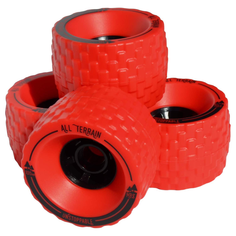 MBS All-Terrain Longboard Wheels (4) - Red by MBS