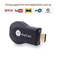 Saiwill Wireless WiFi Display Dongle 2.4GHz 1080P HD Adapter HDMI, Drahtlos Mini Anzeigeempfänger Teilen 1080P Videos Audio/Bild/ Live Kamera und Musik vom PC/Telefon auf TV Monitor Oder Projektor
