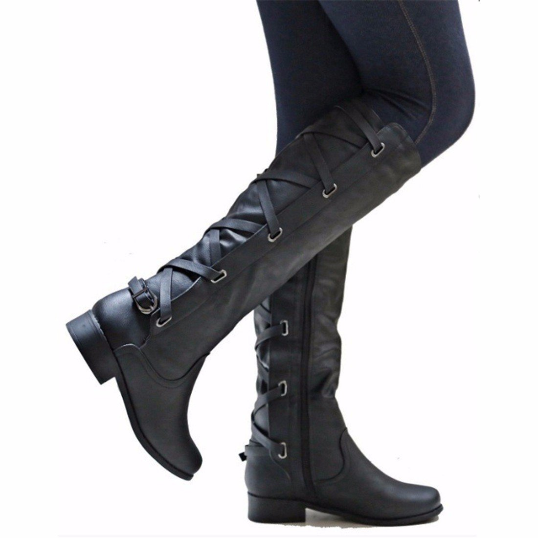 L'automne et l'hiver la mode avec des low boots de hautes bottes et chaussures. RFF-Women' s Shoes