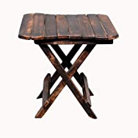 Jai Amba Crafts Well Polished and Furnished (12 Inch) Foldeable Stool