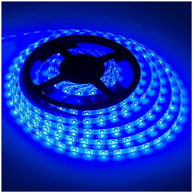 Amazon.com : XINKAITE Waterproof Led Strip Lights SMD 3528 16.4 Ft (5M)  300leds 60leds/m White Flexible Tape Lighting Tape Lights for Boats,  Bathroom, Mirror, Ceiling and Outdoor (Blue) : Garden & Outdoor