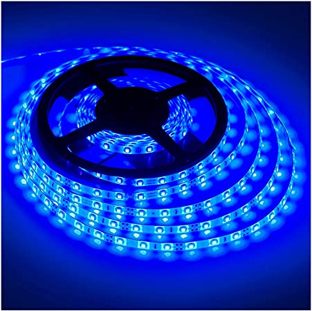 Blue Boat Waterproof LED Under Gunnel Lights 12V Flexible Cuttable 16ft Bright