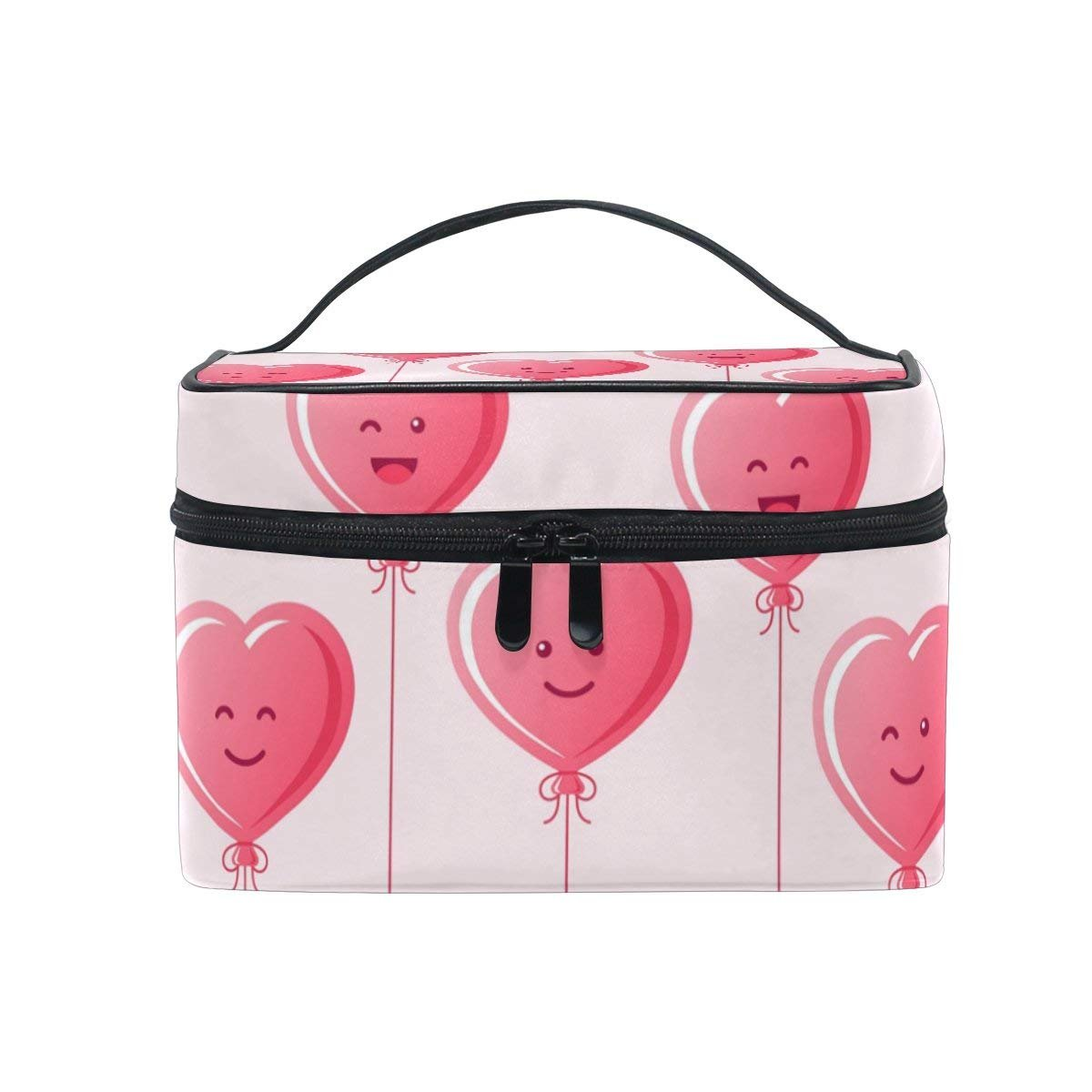 Makeup Bag Love Heart Balloon Mens Travel Toiletry Bag Mens Cosmetic Bags for Women Fun Large Makeup Organizer