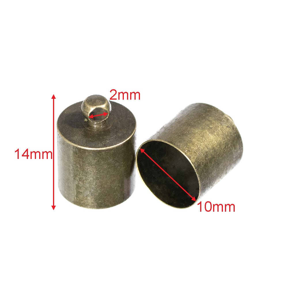 5 mm Bronze, 2 Pack Craft County Cord End Caps