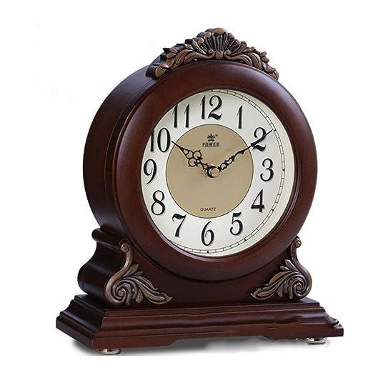 GongDi Reloj de Mesa Mantel Relojes Madera Maciza Personalidad ...
