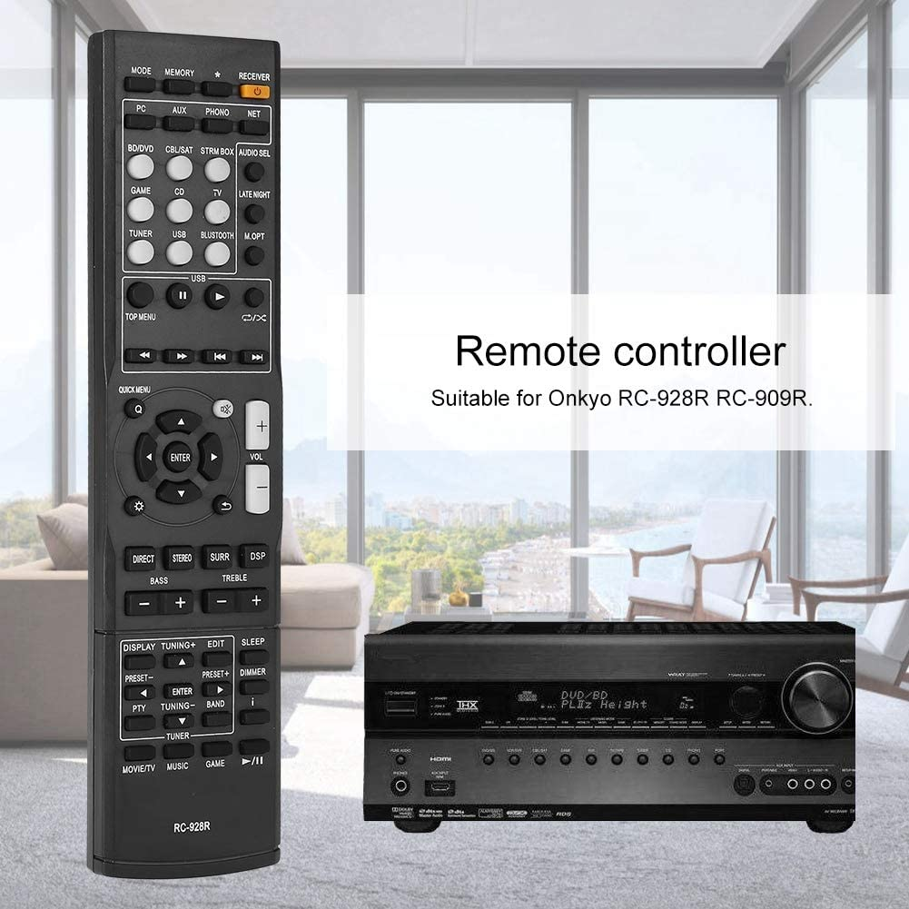 Bewinner Replacement Original Remote Control for Onkyo RC-928R RC-909R 8M Power Amplifier Remote Control