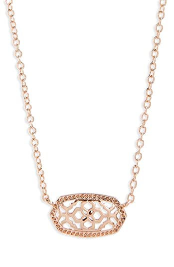 9a6dc735822 KendraScott Signature Elisa Rose Gold Filigree Pendant Necklace