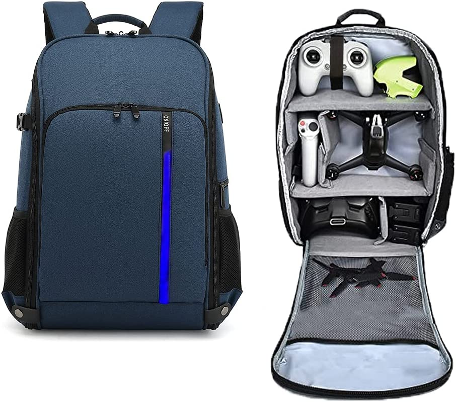 Mochila para dron DJI FPV y sus accesorios - Azul