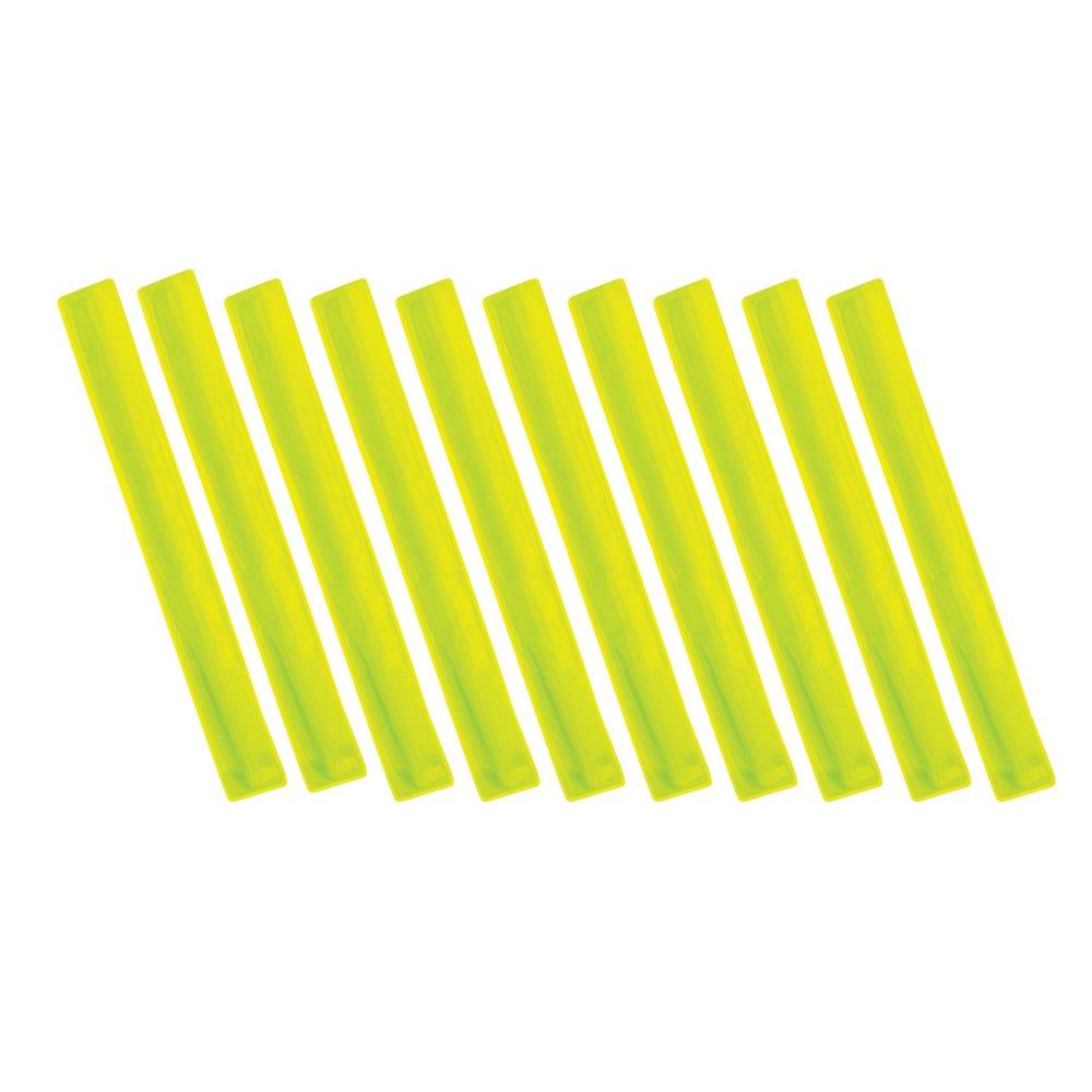 eBuyGB - Tobillera y muñequera reflectante de alta visibilidad para niño, Niños, color amarillo, tamaño talla única Niños tamaño talla única 1209708-10