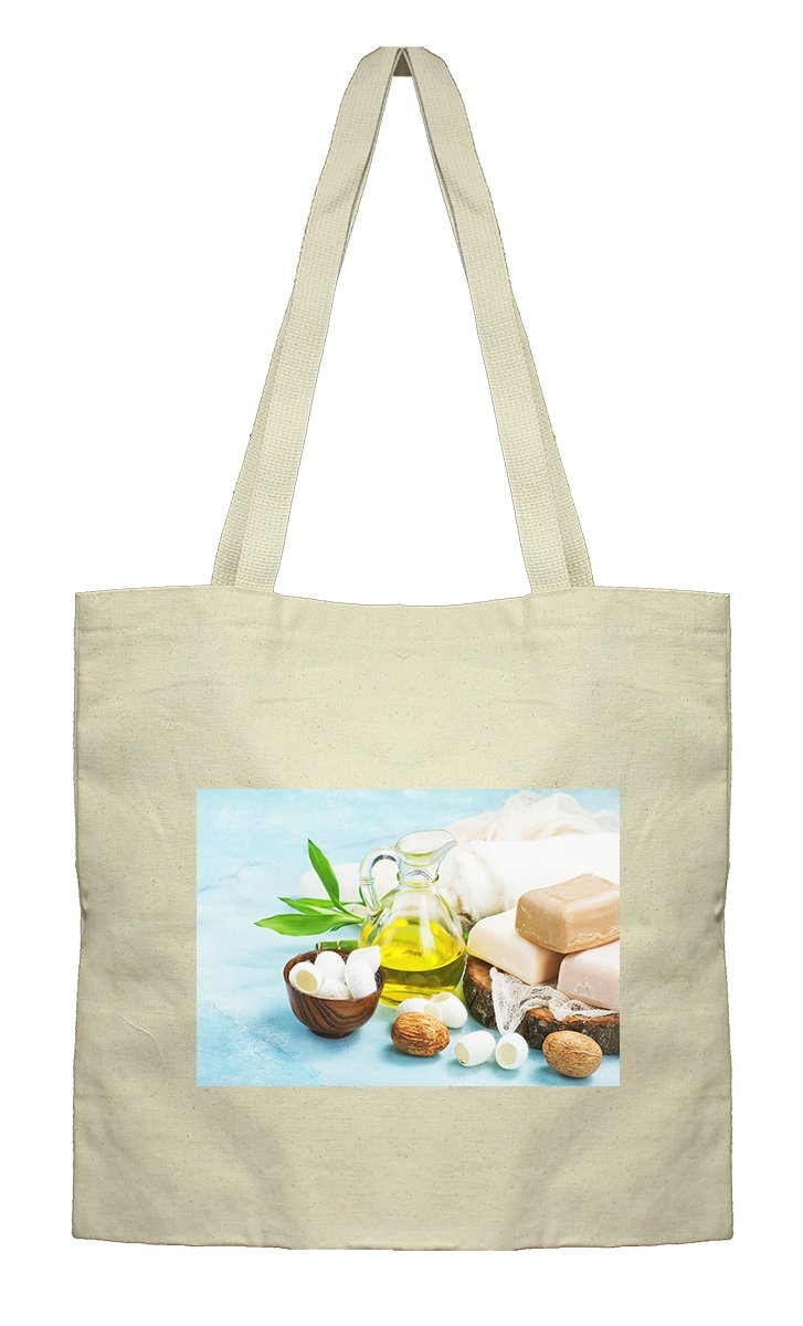 Flat Market Bag Canvas Tote Spa Oil By Style In Print