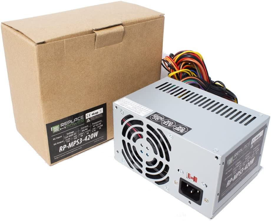 300W 300 Watt ATX Power Supply Replacement for Dell Dimension B110, 1100, 2200, 2300, 2350, 2400, 2450, 3000, 4300, 4400