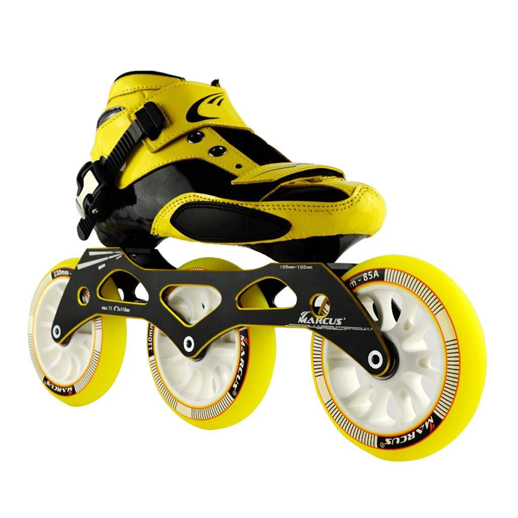 LIUXUEPING ローラースケート、 スピードスケート靴、 大人の男性と女性のインラインレーシングシューズ、   初心者のスケート靴、 プロのプーリーシューズ (色 : Green, サイズ さいず : 33) B07GLT7K27 45|イエロー いえろ゜ イエロー いえろ゜ 45