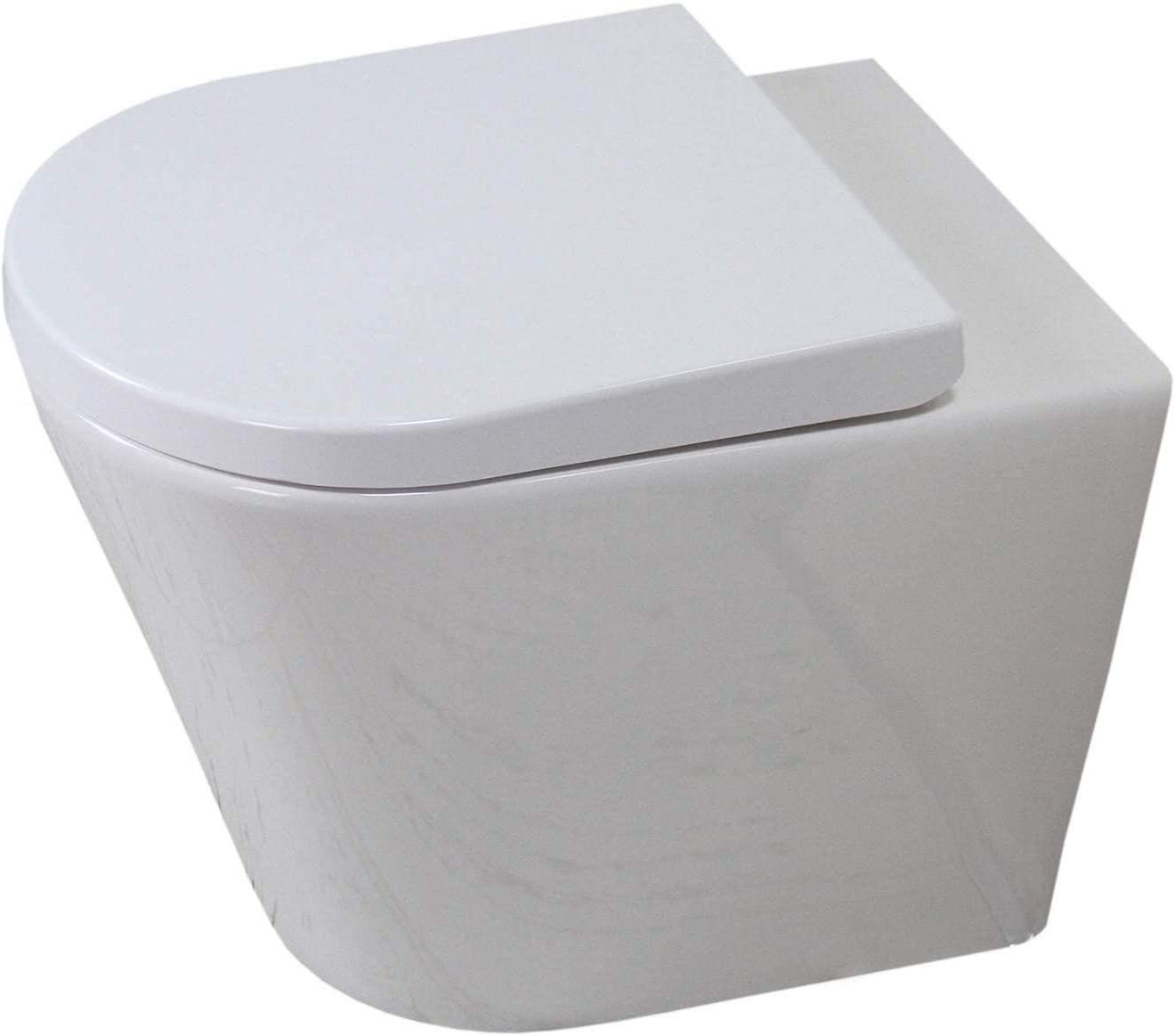 KLARA Toilet WC Bathroom Back to Wall Ceramic Soft Closing Seat