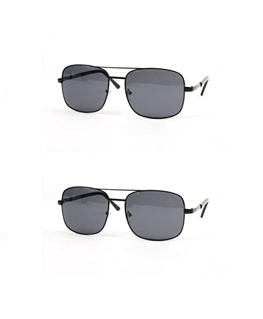 ed55cfe346 Classic Square Aviator Sunglasses P486 (2 pcs Black-Smoke   Black-Smoke)