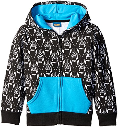 Star Wars Boys' Pullover or Zip Hoodie Sweatshirt, Black, X-Small/4 (Star Wars Boys)
