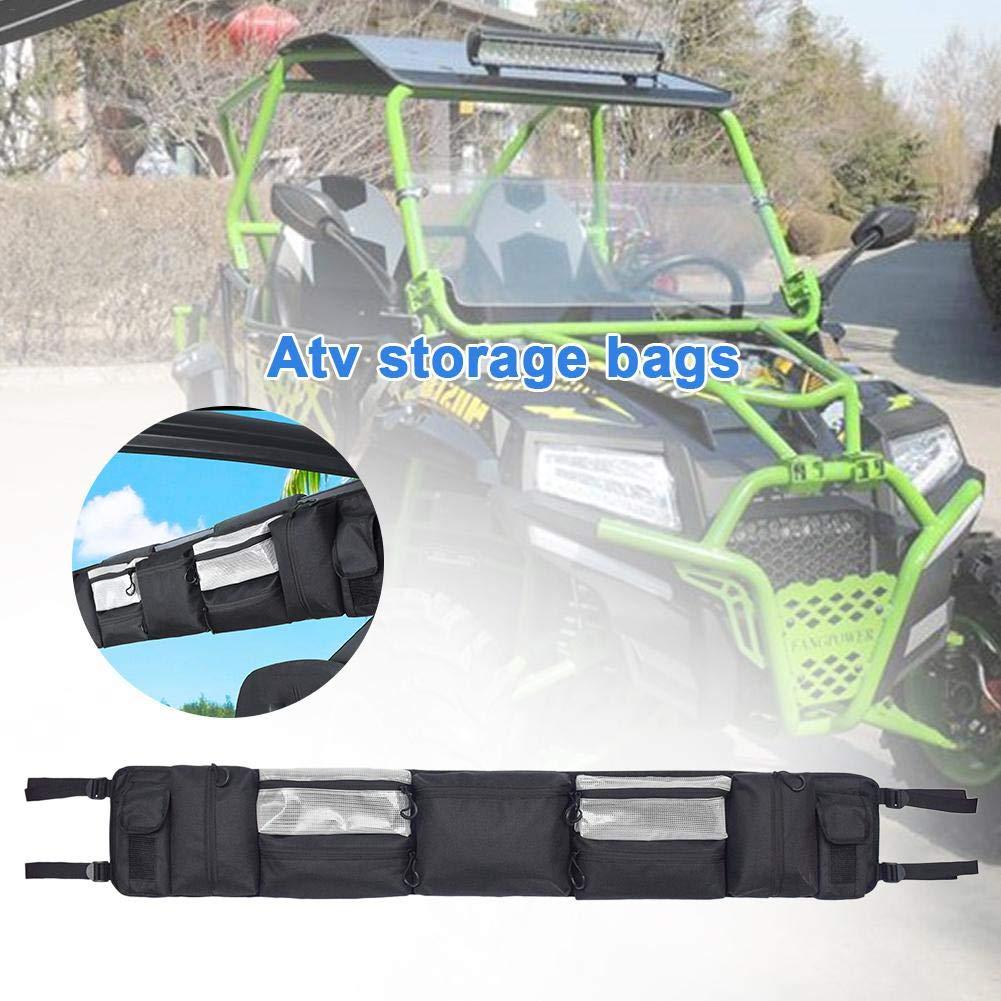 Universal All Terrain Fahrzeug Strand Auto Aufbewahrungstasche UTV Gro/ße Roll Cage Organizer Schwarz ATV Fender Bag