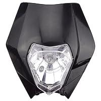 GOOFIT Universal 12V 35W Moto Supermotard halogène Phare Indicateur Carénage Abat pour Dirt Bike Motor Blanc