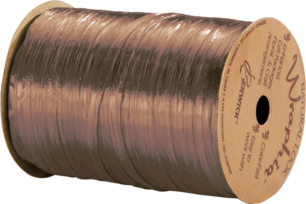 Pearlized Copper Wraphia Ribbon 1//4 x 100 Yards