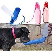 CHOUREN 250ML Outdoor Portable Pet dog Water Bottles Foldable Tank Drinking Design Travelling Bowl Feeding Dispenser…