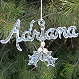 Personalized Christmas Ornament of Hand Blown Glass
