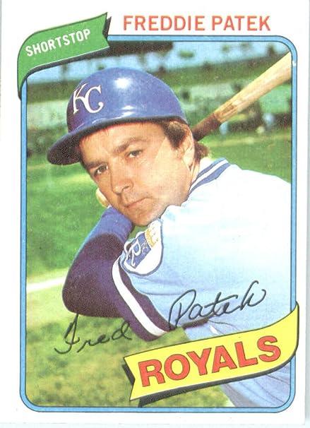 1980 Topps 705 Freddie Patek Kansas City Royals Baseball