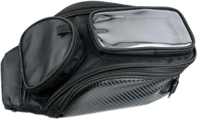 Nylon Waterproof Bag 35x23x11cm Tail Bag Fuel Tank Bag ZZKJTANGYMTT Motorbike Bags,Motorbike Dogs,Universal Motorcycle Strong Magnetic Navigation Bag Black Large Screen Navigation Bag