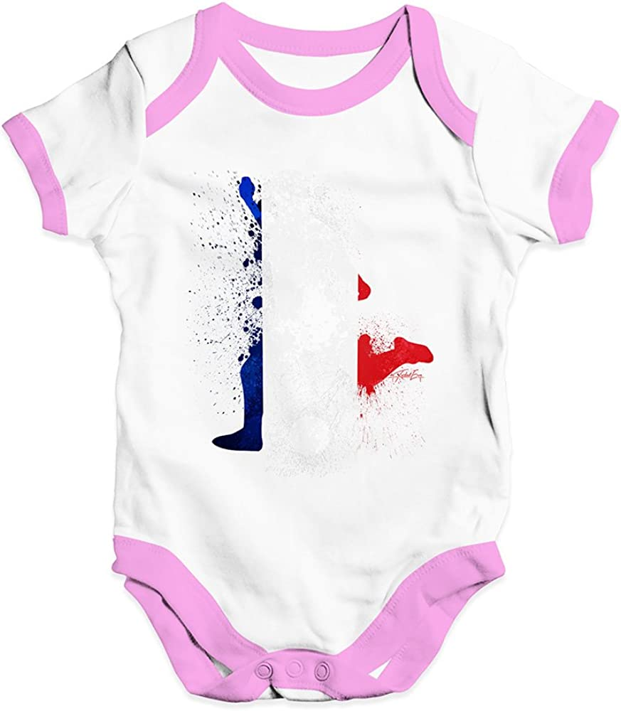 TWISTED ENVY Funny Infant Baby Bodysuit Football Soccer Silhouette France