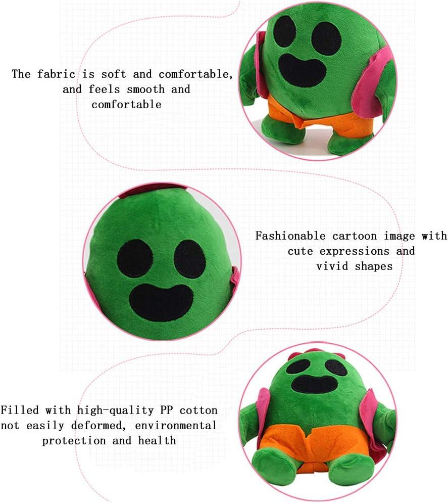 20 Cm Juego De Anime Modelo Spike Mu/ñeca Peluche De Peluche Cactus Juguetes De Peluche Suaves para Ni/ños Ni/ños 20cm// 2 Piezas Zedmy Mu/ñeca De Peluche