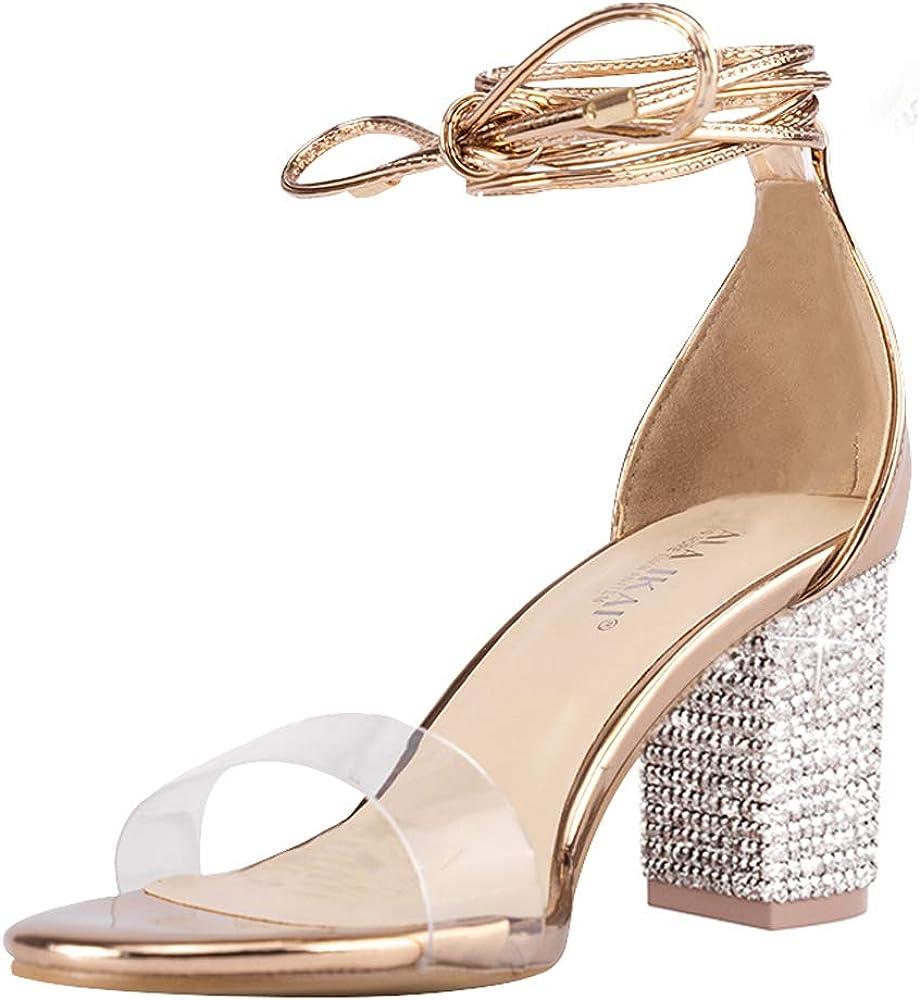 Women/'s Ladies Block Heels For Weddings Or Parties.