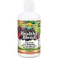 Dynamic Health Healthy Blend   For Healthy Living   Acai, Magosteen, Noni, Goji, Camu Camu, Maqui & Aloe Vera   Gluten & BPA Free, Vegetarian   32oz