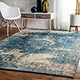nuLOOM 200OWTC01A-7100112 Traditional Vintage Fancy Grey Rug (8-Feet X 11-Feet)