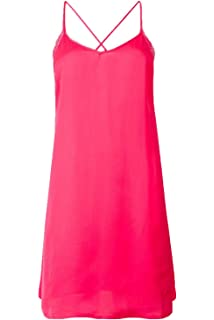 d811a826a80a Ex Marks & Spencer Rosie Huntington-Whiteley Hot Pink Satin Chemise Short  Nightdress