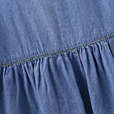 Unmega Baby Girls Denim Sleeveless Ruffle Skirt