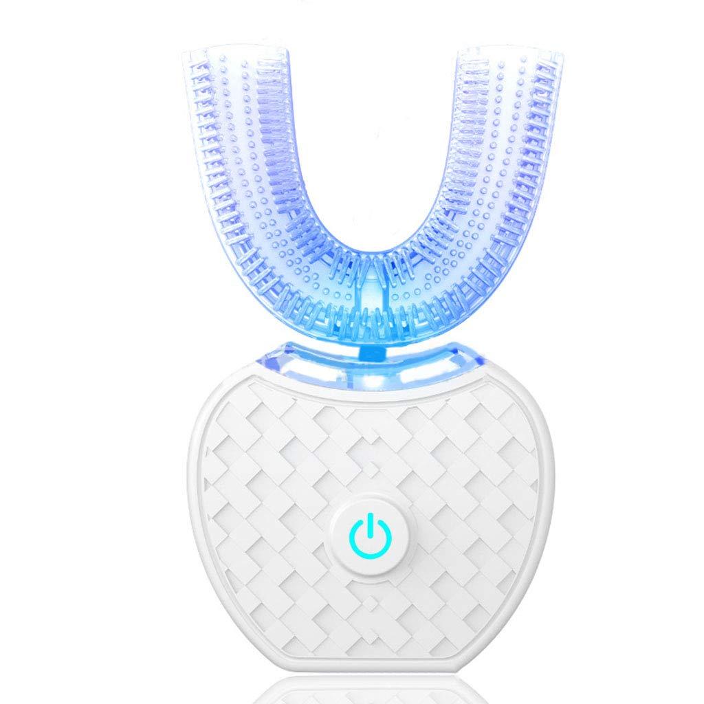 Iash Tooth Cleaner Cepillo de Dientes eléctrico por ultrasonidos Dientes automáticos Que blanquean 360 Grados con el Tipo U Cepillo de Dientes Dientes ...
