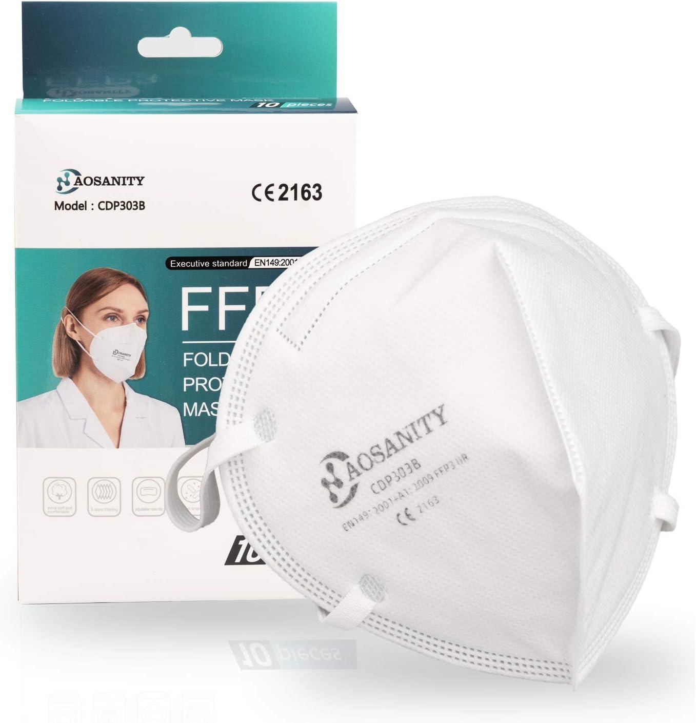 FFP3 mascarilla de protección de la Salud mascarilla Protectora mascarilla, mascarilla de protección respiratoria de 4 Capas, mascarilla para Adultos protección Facial Boca-Nariz con Tela