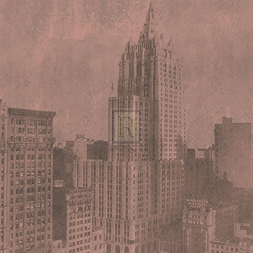 new-york-life-insurance-building-sepia-poster-print-12-x-12