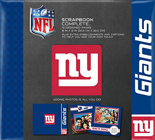 C.R. Gibson Scrapbook Complete Kit, Small, New York Giants  (N861633M) ()