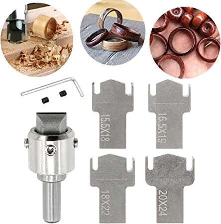 MLZYKYJZ Wooden Thick Ring Maker Wooden Ring Drill Bit for Making Personalized Wooden Rings and Jewelry M