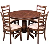 Royal Oak Coco Dining Table Set with 4 Chairs (Walnut)