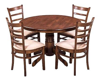 Royaloak Coco Dining Table Set With 4 Chairs Walnut Amazonin