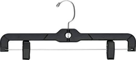 PLASTIC BOTTOM HANGER WITH CLIPS BOX OF 100