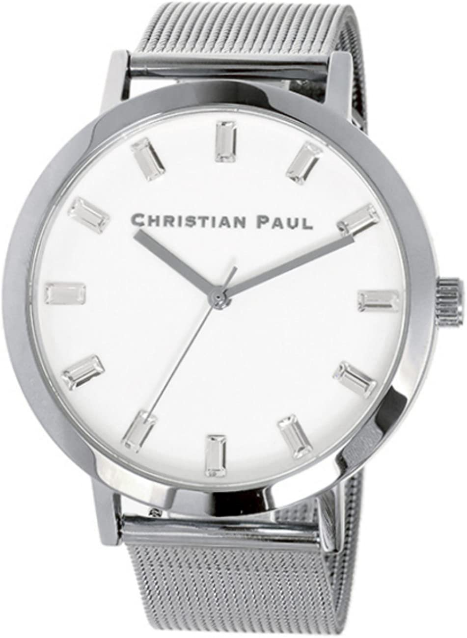 [クリスチャンポール] CHRISTIAN PAUL 腕時計 43mm WHITEHAVEN LUXE MESH SWM-3 ホワイト ユニセックス [並行輸入品]