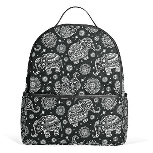 a46a9c4946 JSTEL Vintage Indian Lotus Ethnic Elephant School Backpack 2th 3th 4th Grade  for Boys Teen Girls