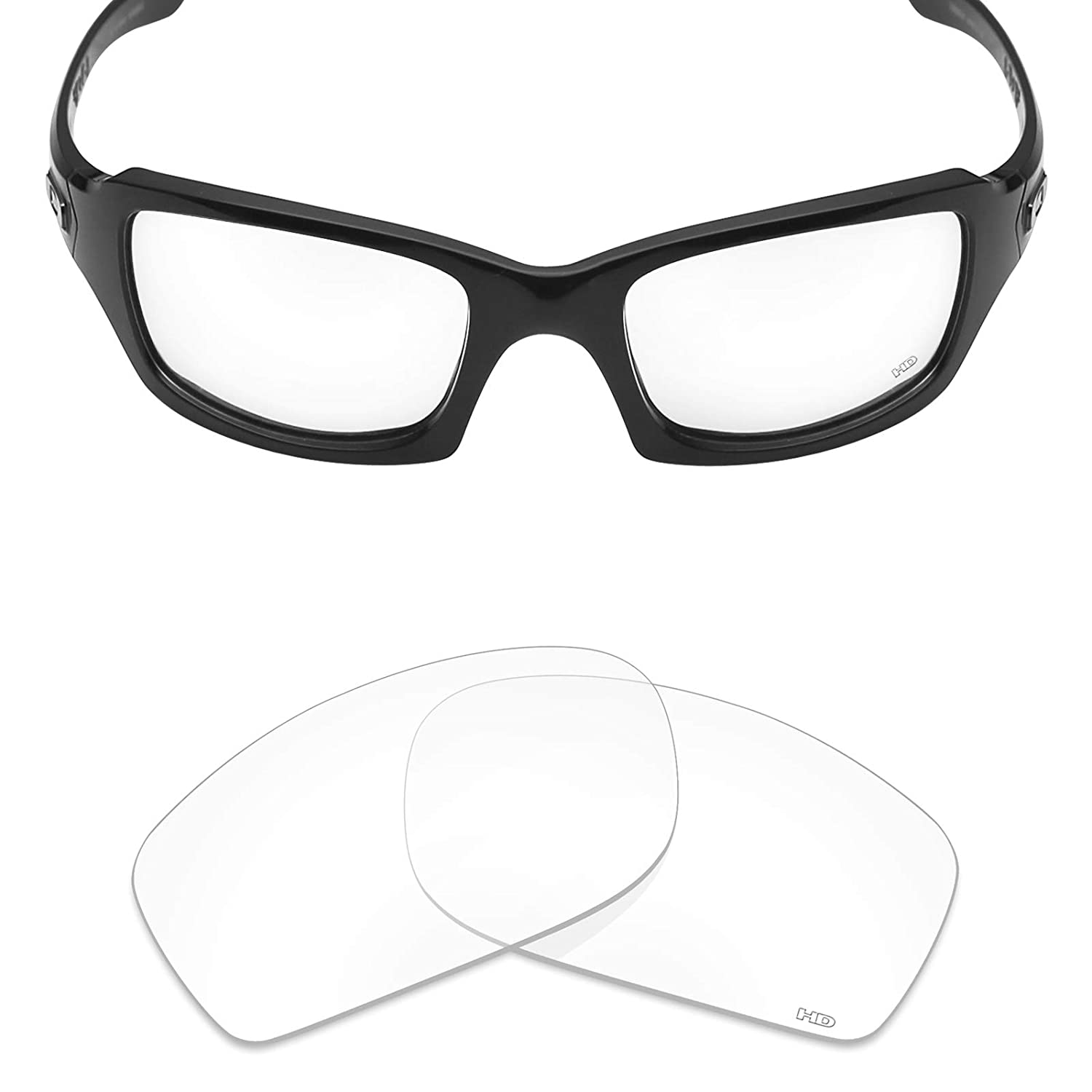 53d09203a7 Amazon.com  Mryok+ Polarized Replacement Lenses for Oakley Fives Squared -  HD Clear  Clothing