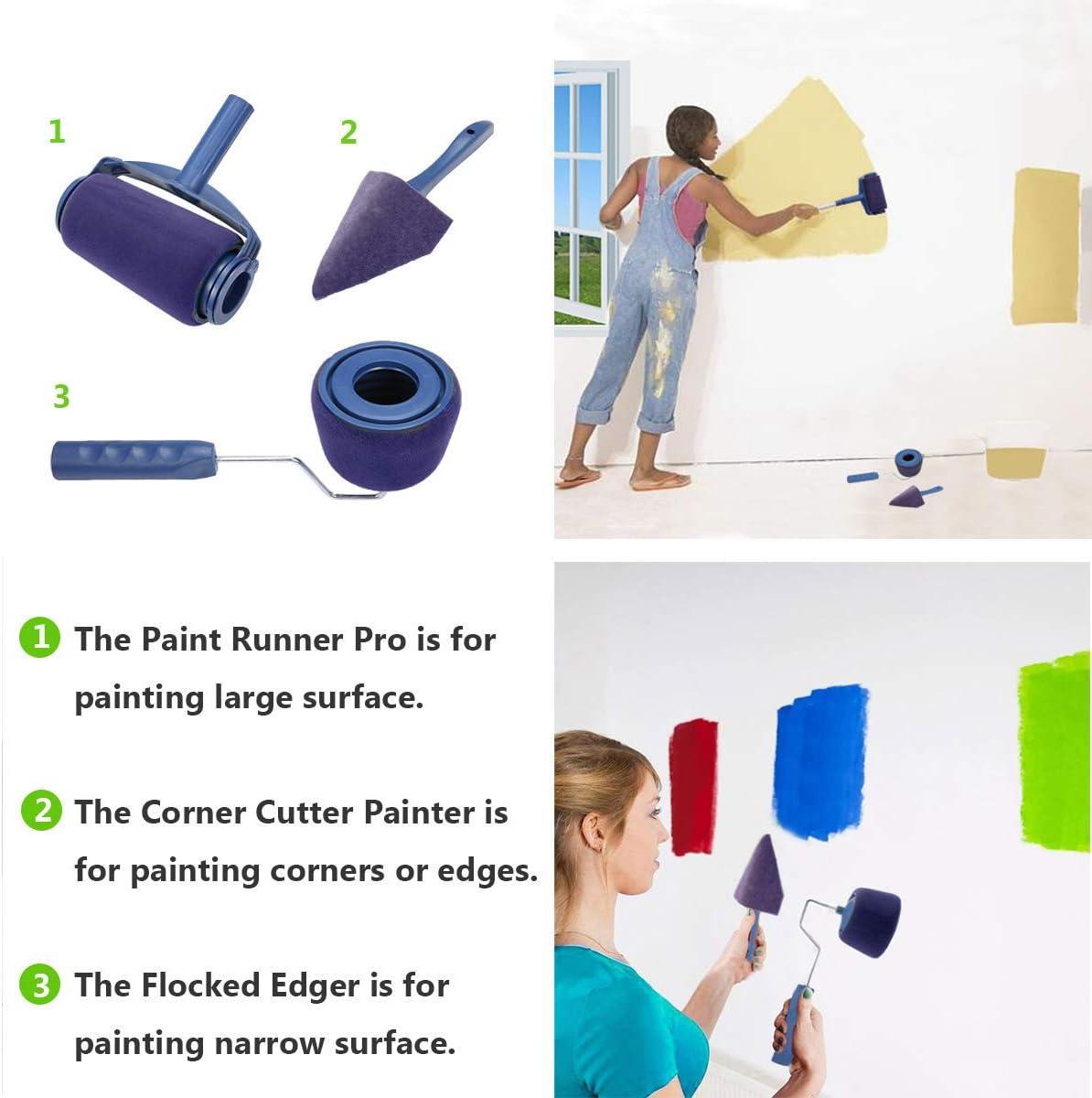 juego multifuncional de pincel inteligente con varilla extensible para casa pared de oficina escuela ADGO Rodillo de pintura pintura de techo y bricolaje