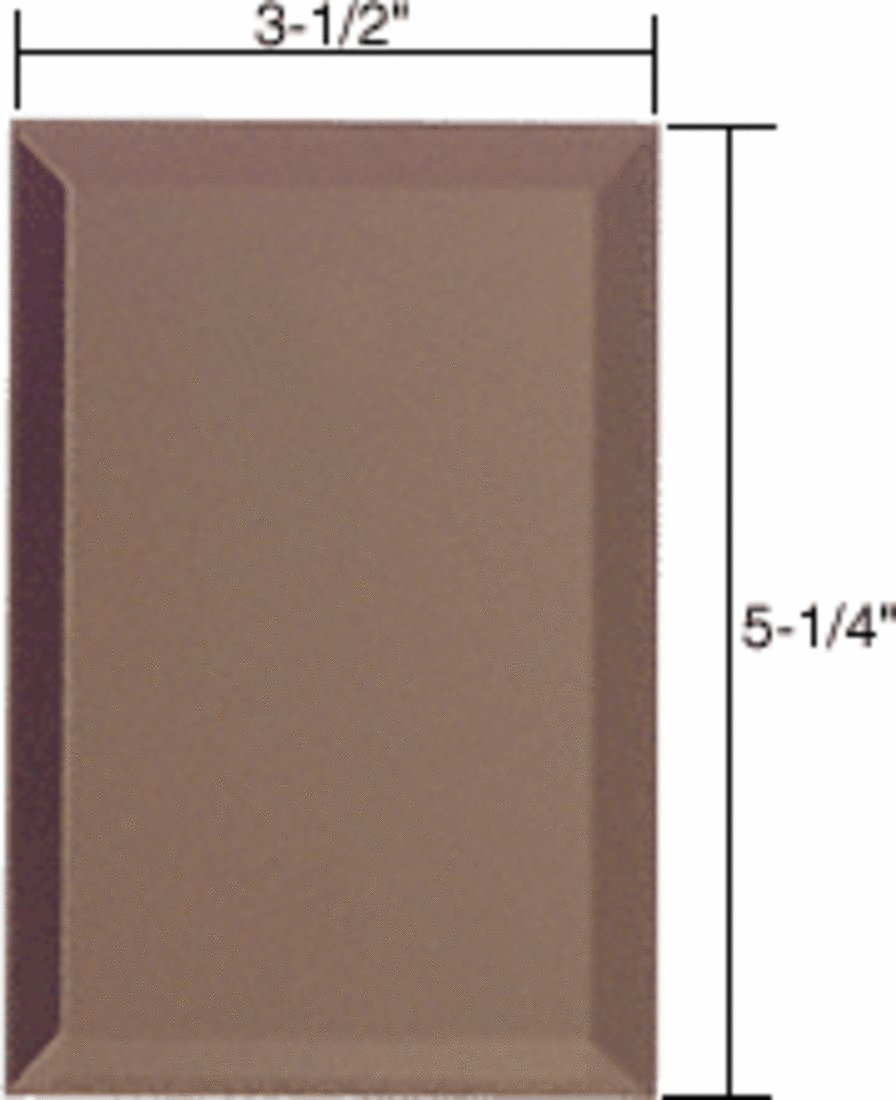 CRL Single Blank Without Screw Holes Glass Mirror Plate-Bronze