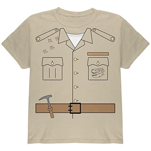c30aff561e482 Amazon.com  Halloween Paleontologist Dinosaur Hunter Costume Youth T Shirt   Clothing